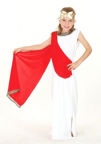 Kinder Kostüm Toga Queen Outfit 11-13 Jahre (Halloween-kostüme Toga Göttin)