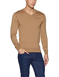 Arrow Mens Woolen Sweater (AKSF4005_Beige_Medium_FS)