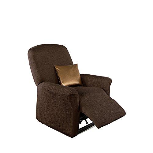 Erwin Müller Stretchbezug, Stretchhusse, Bezug für Relax-Sessel braun - Krepp-Struktur,