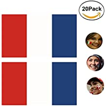2018 Russia World Cup Face Sticker,32 National Flags Temporary Tattoo for FIFA fans,20Pack