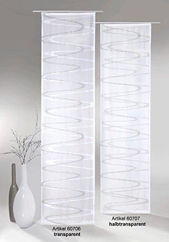 fashion and joy Flächenvorhang Modern Wave inkl. Universal-Zubehör HxB 245x60 cm in anthrazit-grau transparent - Schiebegardine Web-Scherli Welle Gardine Typ413