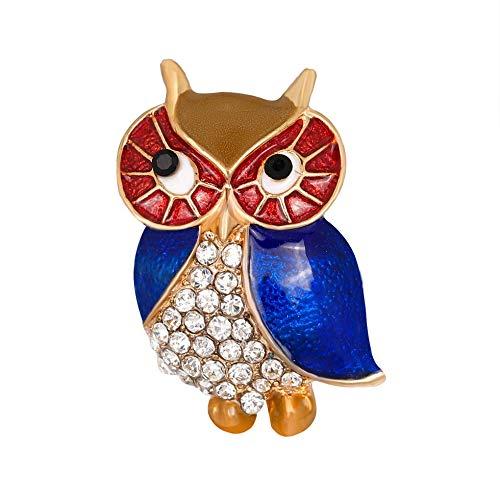 Sen-Sen Cute Owl Crystal Drip Oil Broschen Pins Damen Schmuck Kleidung Dekoration - Cute Owl Kostüm