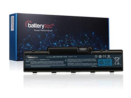Batterytec® Batterie neuve pour ordinateur portable Acer eMachines D520 D525 D725 E525 E527 E625 E725 G620 G625 G627; 4710, 4732, 4732Z, 5332, 5516, 5517, 5532, 5732Z, 5534, AS09A31, AS09A36, AS09A41, AS09A51, AS09A56, AS09A61, AS09A70, AS09A71, AS09A73, AS09A75, AS09A90, L09M6Y21, L09S6Y21, MS2274 [11.1V 4400mAh 12 mois de garantie]