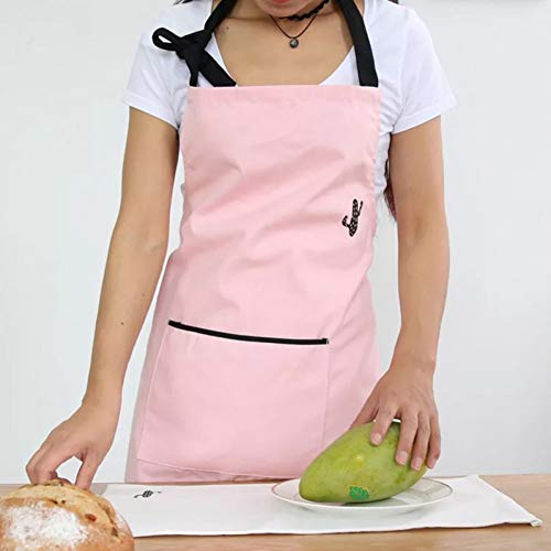 Kostüm Schwarze Und Weiße Hausgemachte - WELQUN Schürze Aprons Schwarz Rosa Weiß Damen Schürze Aus Reiner Baumwolle Mit Taschen KücheKochshop Kunstwerk Schürze