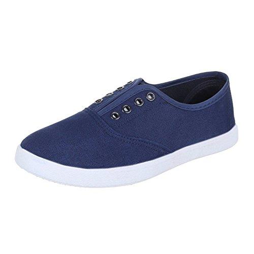 Chaussures femme, AC 42, de loisirs chaussures confortable pantoufles Bleu - Bleu