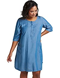 3abe54444651 Suchergebnis auf Amazon.de für: blaues Kleid Hemdkleid Jeans - Damen ...