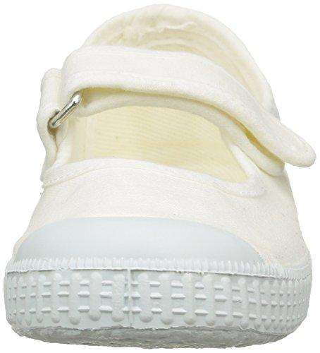 Aster Isaline, Mädchen Lauflernschuhe Sandalen Weiß (Blanc)