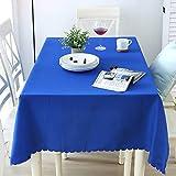 Nclon Volltonfarbe Polyester Tischdecke Tischtuch tischwäsche, Ideal für Buffet-Tisch, Auf Hochzeiten oder, Weihnachtsessen, In Ihrem Zuhause, Bankett-danksagung-Blau Durchmesser 160cm