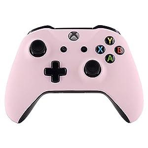 eXtremeRate Hülle für Xbox One S/X Controller Gehäuse Hülle Case Schutzhülle Cover Schale Skin Shell Zubehör Set für Xbox One S/Xbox One X Controller(Schwarz Transparent)