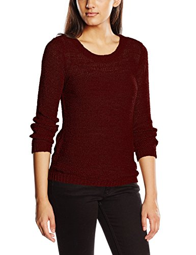 ONLY Damen Onlgeena XO L/S Pullover KNT Noos, Rot (Windsor Wine), 40 (Herstellergröße: L)