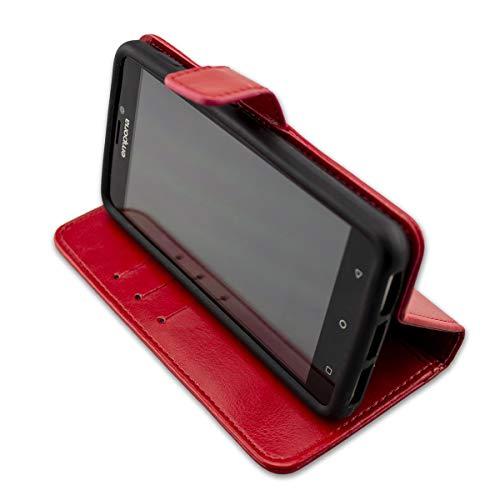 caseroxx Tasche Case Hülle Bookstyle-Case für Emporia SMART.2 in rot