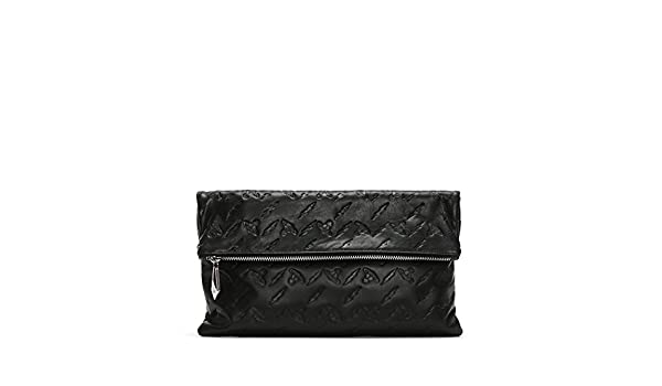1e76089605 Vivienne Westwood Canterbury Black Leather Orb Embossed Clutch Bag Black  Leather: Amazon.co.uk: Shoes & Bags