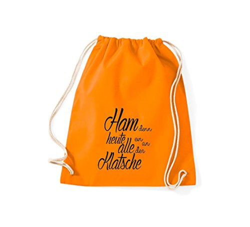 Shirtstown Gymsac iconica motto: ham perché oggi tutti ein sulla Clap - bianco, 37 cm x 46 cm Orange