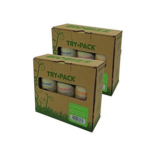 BIOBIZZ - Try-Pack Outdoor - Mega Pack - 3 x 500 ML (6 flacons de 250 ML)