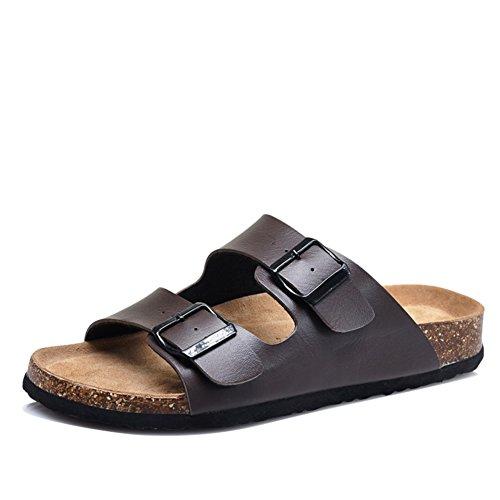Man Kork Sandalen im Sommer grüne Liebhaber Schuhe/Freizeitschuhe für Männer und Frauen/Umwelt Paar Sandalen/Anti-Rutsch-Sandalen D