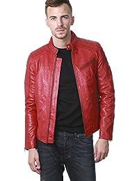 9ef24f614693d Amazon.fr   Blouson cuir - Tassa   Homme   Vêtements