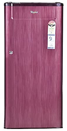 Whirlpool 190 L 4 Star Direct Cool Single Door Refrigerator(205 Genius Cls Plus 4S, Red)