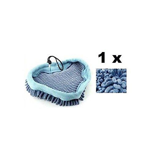 Pixnor Ersatz Waschbar Coral Mikrofaser Tuch Pad Cover für H2O Mop X5Vax X2Bionaire Steam Mop (blau)