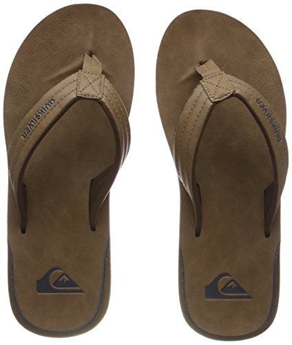 Quiksilver Herren Carver Nubuck - Sandals for Men Zehentrenner, Beige (Tan - Solid Tkd0), 44 EU