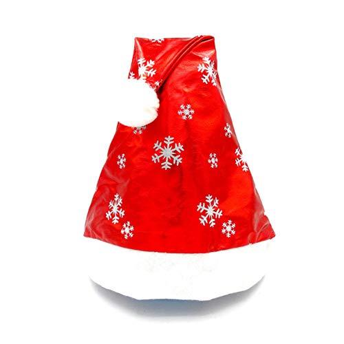 Amphia Weihnachtsmütze - Rotes Schneeflockenmuster des Kindererwachsenen Weihnachtshutes -