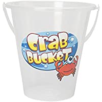 Mountain Warehouse Crabbing Bucket - Plastic, Lightweight Summer Crab Bag, Easy to Carry, Transparent, Fun Print - Ideal for kids Hunting For Fish, Crabs At The Beach
