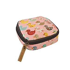 Albeey waterproof sanitary napkin cosmetic storage bag purse with zipper (duck)