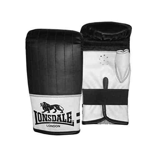 Lonsdale Unisex Contender Bag Boxen Handschuhe Schwarz/weiß S/M