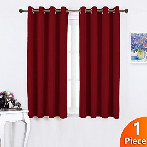Fashion Blickdicht Vorhang mit Ösen – PONY DANCE 1 Stück 158 x 132 cm (H x B), Rot Vorhänge Verdunkelungsvorhänge geeignet für Saal Wohnzimmer home - 2