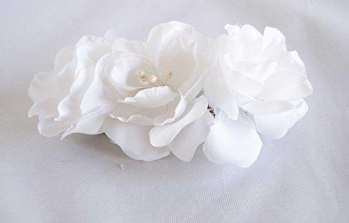 Haarspange weiß aus Blumen. Gratis Versand 72H