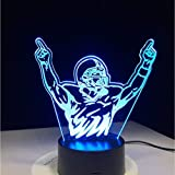 Shuyinju Motocross Bike Champion Man Night Lights Led Usb 7 Colores Sensor Lámpara De Escritorio Como Holiday Novelty Lámpara De Mesa 3D Regalos