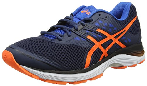 Asics Gel-Pulse 9, Zapatillas de Running para Hombre, Azul (Dark Blue/Shocking Orange/Victoria Blue 4930), 42.5 EU