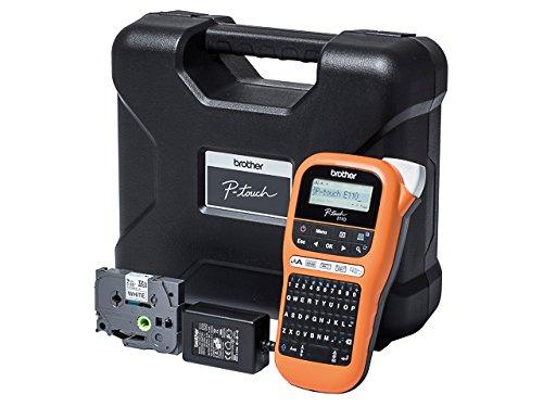 BROTHER PTE110VPZG1 P-touch Beschriftungsgerät inklusiv Netzadapter und Hartschalenkoffer