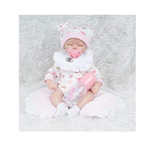 ADATEN Simulation Pflege Wiedergeboren Baby Puppen Handgemacht Lebensecht 45 cm hoch Stoff Torso Weich Silikon Puppe Mit Schönes Kostüm Erwachsen Werden Partner Spielzeug - Marionette Marionetten Für Erwachsene Kostüm
