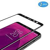 TAMOWA [2 Stück] für Panzerglas für Samsung Galaxy A8 2018, Full Screen Panzerglasfolie 9H Härte für Panzerglas Schutzfolie, Anti-Kratzen, Anti-Öl, Anti-Bläschen (Schwarz)