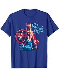 Marvel Captain Marvel Fly High Goose Cat T-Shirt