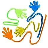 Sticky Fingers, i giocattoli di divertimento, bomboniere, Wacky Divertimento elastiche Glitter Sticky Mani, favori di partito, feste di compleanno, giocattoli per i bambini sensoriali, 24 pezzi