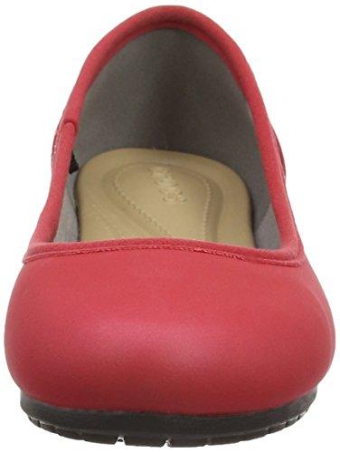 Crocs Marincolorliteflatw, Ballerine Donna Rosso (Pepper/Black)
