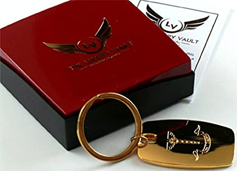 Diabetic Type 1 Engraved 24K Coated Gold Keyring Diabetes Type One Medical Alert Jewellery