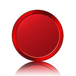 Doutop iPhone 8 Touch ID Aufkleber für iPhone 7 Plus 6S 6 Hauptknopf Home Button Sticker mit Fingerabdruck Indentification Function für iPad Air 2 Pro Mini 3 4 (Rot mit Rot)