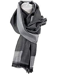 Emila Sciarpa da uomo donna autunno inverno Stola coprispalle grigia foulard  scialle pashmina fular invernale autunnale fd0c953c1d7c