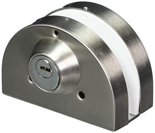 sourcingmap Paar Silber Metall Halbkreis 2 Schrauben Türschloss für 10-12mm Glas (Glas-schiebe-regale)