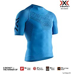 X-Bionic Twyce 4.0 Run Short Sleeve Shirt, Hombre, Blue/Opal Black, L