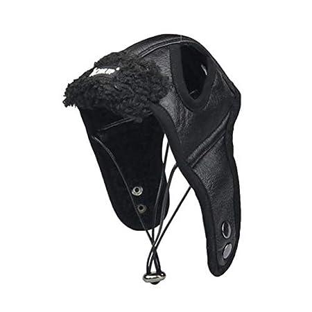 POPETPOP Haustier Hund Winter warme Fliegermütze Windschutz Pilot Motorräder schützen Hut Weihnachten Kostüm – Größe S (schwarz)