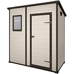 Keter Manor Pent Resin Outdoor Garden Storage Shed