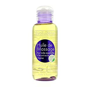 Huile de Massage aux huiles essentielles Decontracte Apaise - Corps 100 Ml sans paraben sans colorant sans alcool