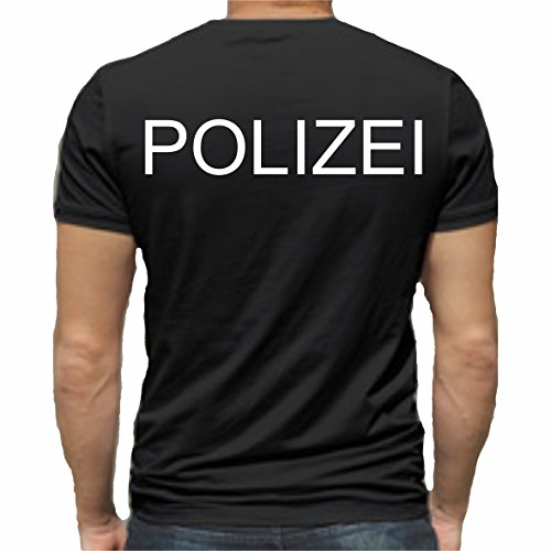 Sticker Design Shop Polizei T-Shirt Druck Unisex Baumwolle Fruit of The Loom Neu
