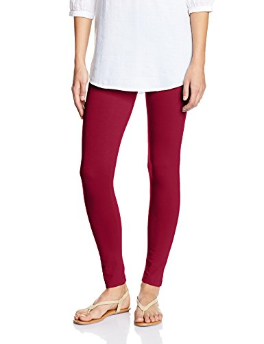 Myx Women's Cotton Stretch Leggings (AW16LEG01A_Maroon_Medium)