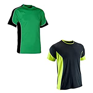 694fa606 Men's Sport & Outdoor Polyester T-shirts (Combo Of 2, Black & Green):  Amazon.in: Sports, Fitness & Outdoors