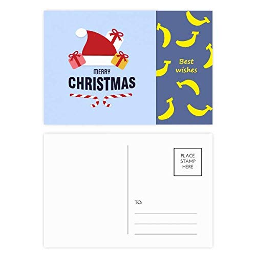 Merry Christmas Santa Claus Hut Banana Postkarten-Set, Danksagungskarte, Mailing Seite, 20 Stück