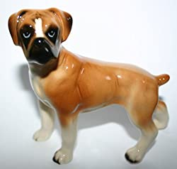 Porcelain Boxer Dog Figurine Made In England Beswick from Made In England